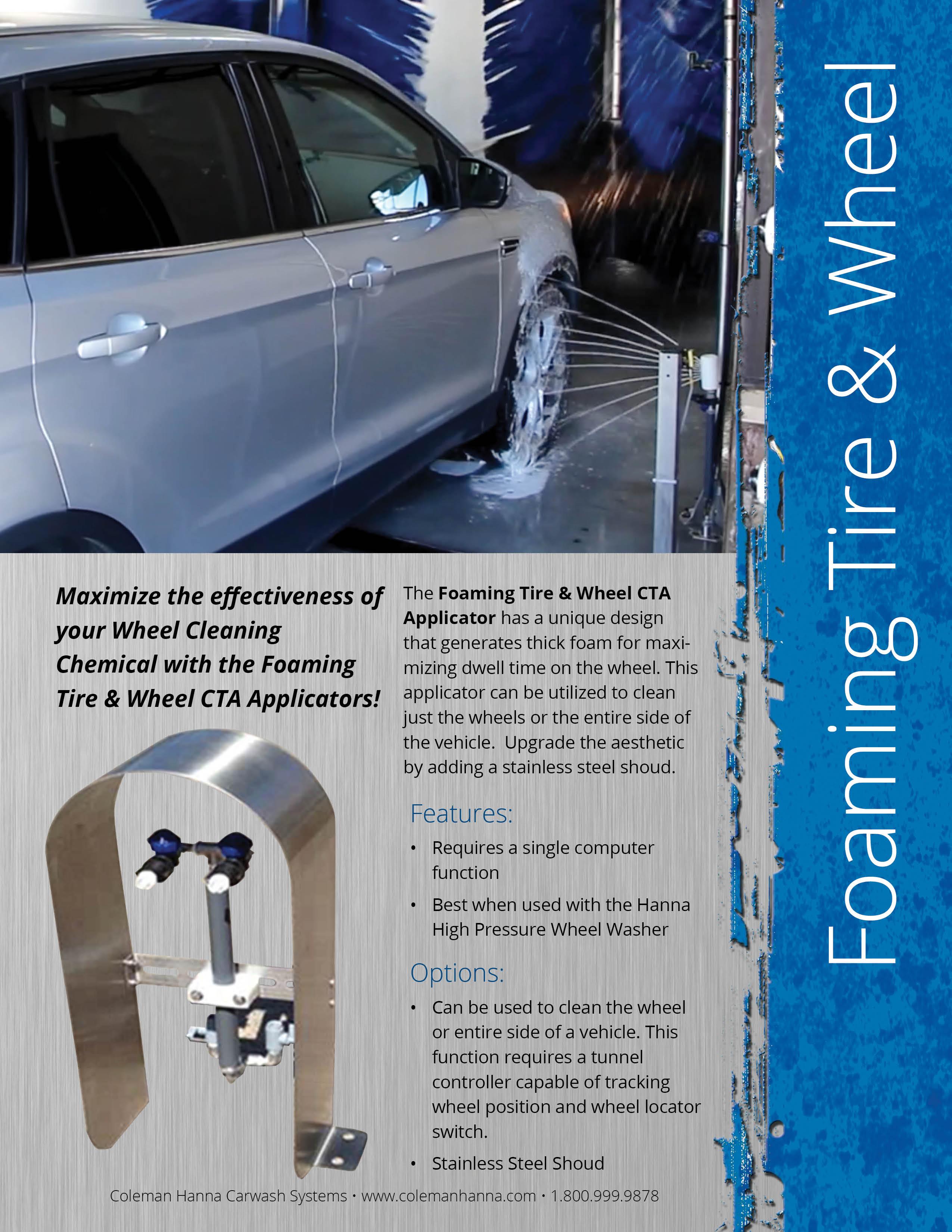 Foaming Tire Wheel Applicator