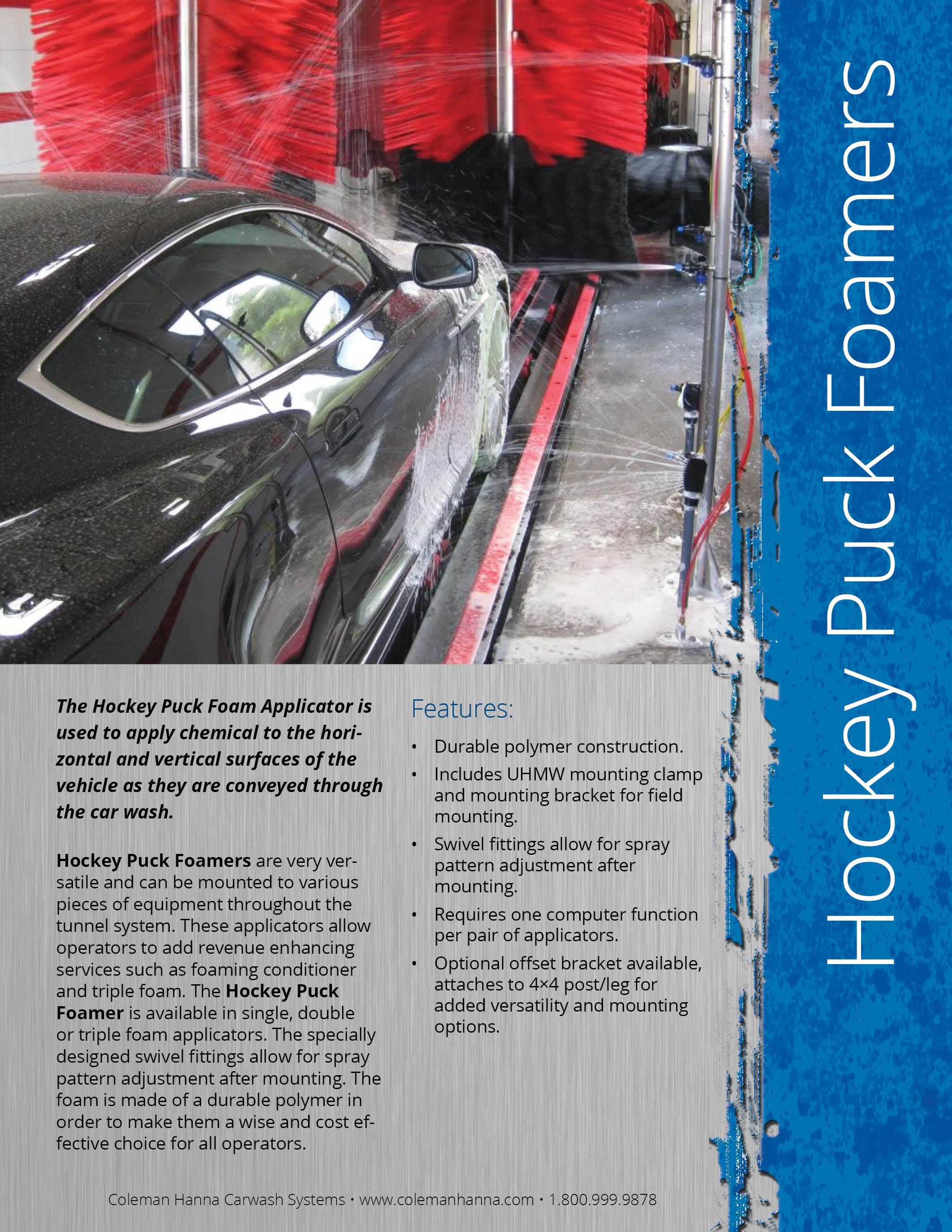 Hockey Puck Foaming Applicator