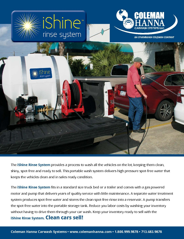 iShine Spot Free Rinse System