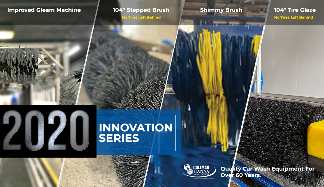 Improved Gleam Machine, 104 inch stepped brush, shimmy Brush, 104 inch Tire Glaze, No tires left behind!, 2020 Innovation series,