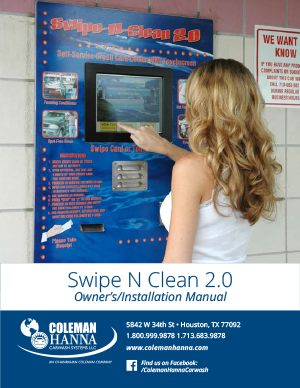Swipe N Clean 2.0 Owner's Manual